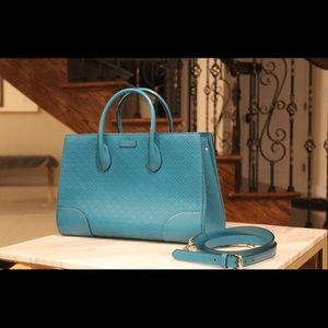 Gucci Turquoise Handbag With Removable Strap